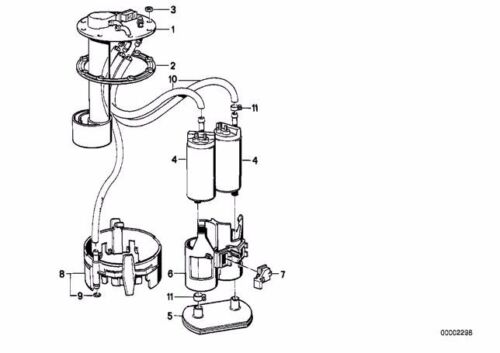 NEW OEM BMW 5 7 Series E34 E32 Fuel Pump Sending Unit Repair Kit 16147159349
