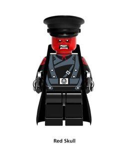 MINIFIGURES-TESCHIO-ROSSO-RED-SKULL-CUSTOM-NUOVA-COMPATIBILE-LEGO