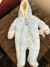 233dcb70c2e4 Absorba Baby Boys 3-6 M Fuzzy Plush Snowsuit in Blue for sale online ...