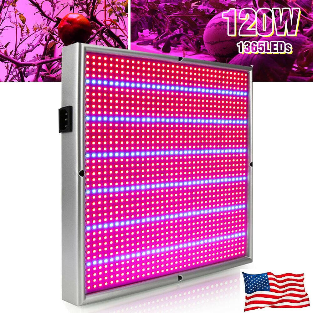 Image 01 - 1365-LED-Grow-Light-Full-Spectrum-Indoor-Veg-Flower-Plant-Growing-Lamp-Panel-Kit