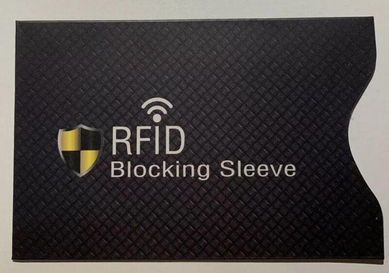 1x Rfid/nfc Schutzhülle Für Ec Karte/kreditkarte Schwarz Neu !!!