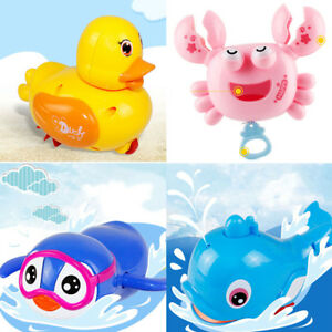 Wind Up Clockwork Cute Animal Kid Baby Swimming Favor Bath Time Play Toy-Selling
