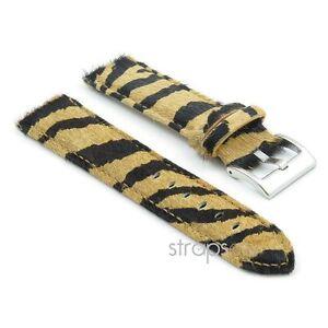 Strapsco-Kunstfell-Zebra-Watch-Band-Damen-Riemen-in-beige