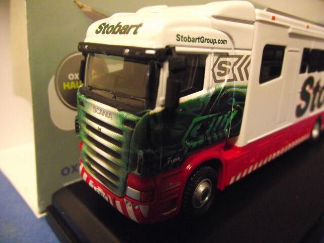 76SHL02HB - 1/76 Oxford Diecast Eddie Stobart Scania Highline Horsebox