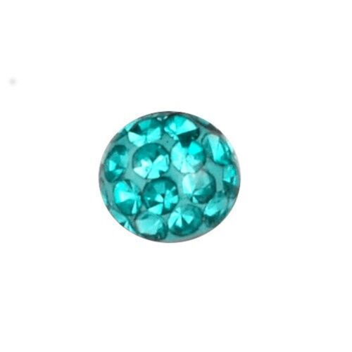 Piercing Replacement Ball 5 and 6 mm Multi Crystal Stones Aquamarine4