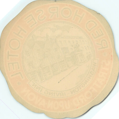 Red Horse Hotel Washington Irving Inn ~STRATFORD Upon AVON~ Old Luggage Label