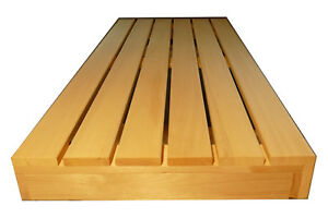 saunabank saunaliege sauna liege holzbank bank holz 194 5x61cm saunabau abachi ebay. Black Bedroom Furniture Sets. Home Design Ideas