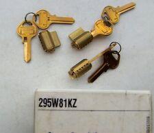 3   MASTER lock  PADLOCK cylinders # 295W81KZ   with 6 key BLANKS # 81