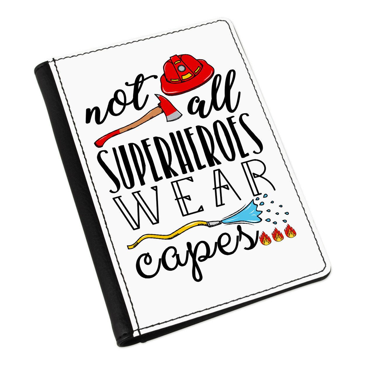 POMPIER pas tous les super-héros porter Cover Capes Porte-passeport Cover porter Case Wallet 3b43b6