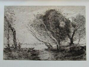 Jean-baptiste Corot Après L'orage Eau-forte 1897 Tirage 525 Exemplaires RafraîChissant Et BéNéFique Pour Les Yeux