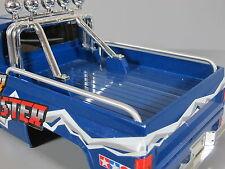 New Pair Aluminum Side Bed Rail Bar for Tamiya 1/10 Clodbuster Pickup Truck