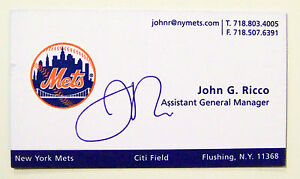 John ricco assistant gm of the ny mets autograph signed on his image is loading john ricco assistant gm of the ny mets colourmoves