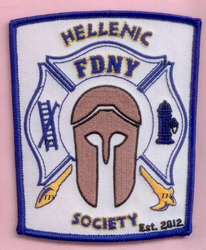 New York City Fire Dept Hellenic Society Patch