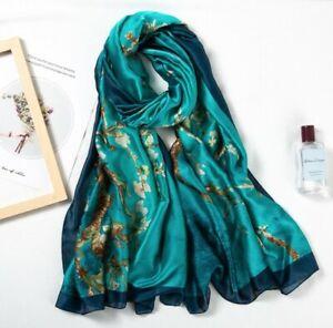 Glanz Schal 180x90cm lang Seide Optik Designer Halstuch Tuch Luxus elegant Damen