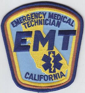 California EMT Emergency Medical Technician Patch CA EMS