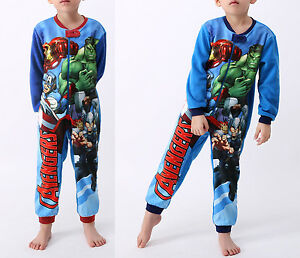 Avengers-Pigiama-Invernale-Boy-Fall-Winter-Fleece-Rompers-Pyjamas-156003-4