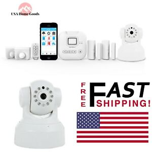 Alarm-Camera-Deluxe-Kit-Wireless-Smart-Monitoring-Home-Security-W-Siren-Alert