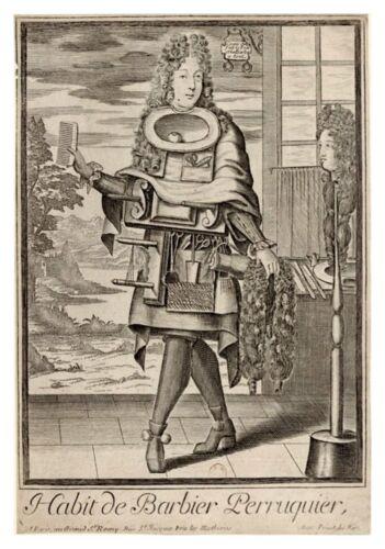 Nicolas de Larmessin Professional Grotesques 1700 Wigmaker 7x5 Inch Reprint