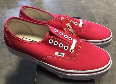 Womens 6 Nib Clothing, Shoes & Accessories Athletic Shoes Temperate Vans Authentic Red Sz Mens 4.5