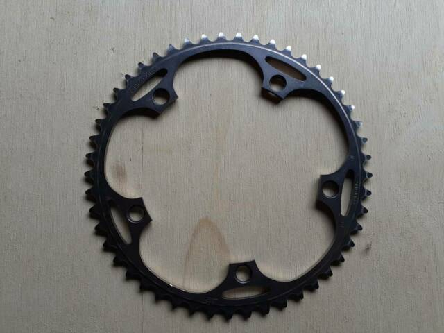 """NEW Shimano Dura-Ace FC-7710 1//2 x 3//32/"""" Track Chainring 144 BCD x 55T Silver"""