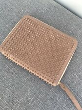 Christian Louboutin Nude Studded Pouch Portfolio Ipad Case USED LIGHTLY