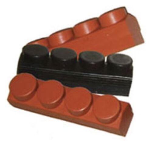 New Set 4 Kool Stop Replacement Brake Pad Inserts For MAFAC Caliper Salmon//Black