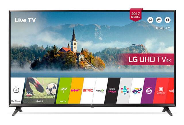"""LG 43UJ630V 43"""" 4K Ultra HD HDR Smart LED Television - Black *Collection only*"""