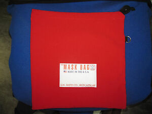 S-M-Smith-Co-SCBA-Mask-Bag-MB1-101-Heavy-Fleece-RED-W-drawcord