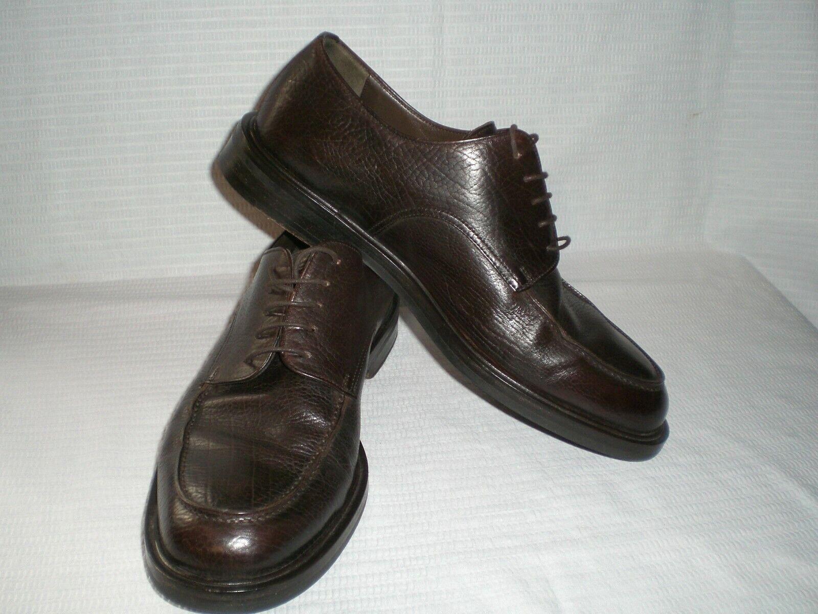 Cole Haan Dress Oxfords US 9.5D Brown Genuine Pebble Leather  Men's shoes