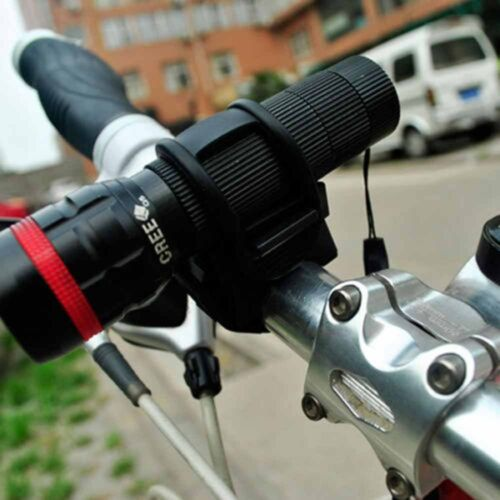 360 Degree Cycling Bicycle Bike Mount Holder for LED Flashlight Torch Clip Clamp