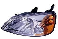 New Honda Civic Sedan 2001 2002 2003 left driver headlight head light