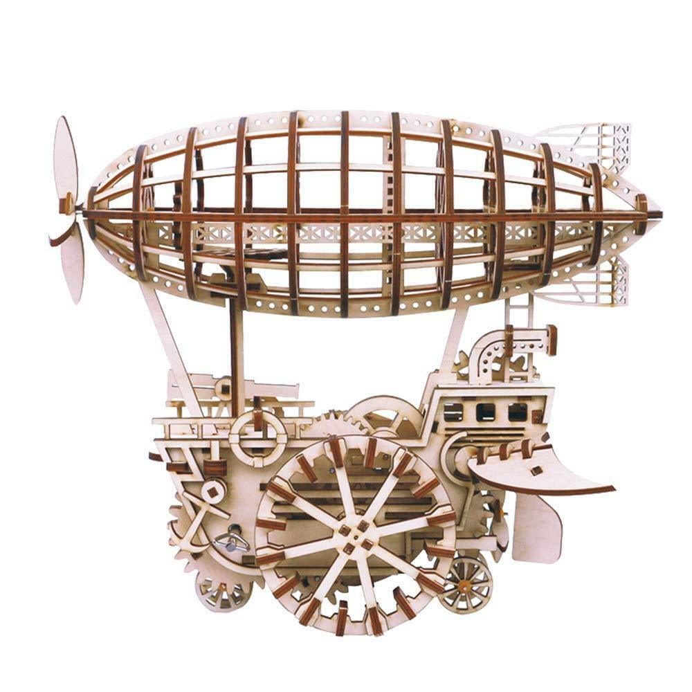 Air Vehicle  Mechanical Gears  ROKR Moving wooden 3D Airship Puzzle model  Age 1