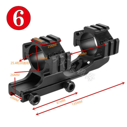 Rifle 25.4//30MM Dual Ring Scope Rear Extension Mount F Picatinny//Weaver Rail