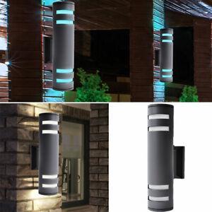 RGB LED Außen Leuchte Haus Tür Garten Sensor Fernbedienung Dimmer Wand Lampe