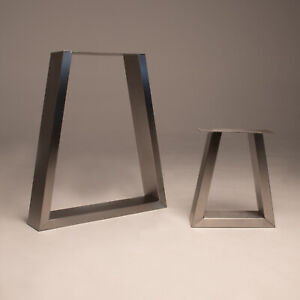 Set Of 2 Stainless Steel Table Legs