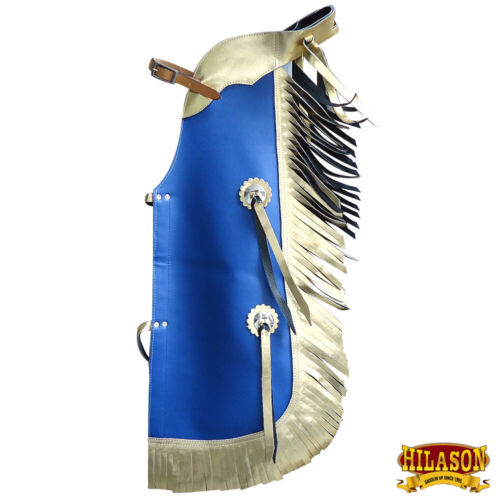 Hilason Western Leather Kids Junior Youth Pro Rodeo Bull Riding Chaps U-871Y