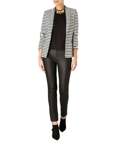 Stripe In Sale Mikkelson Birger Small Cotton Navy Et Day White Blazer qOwU17Px