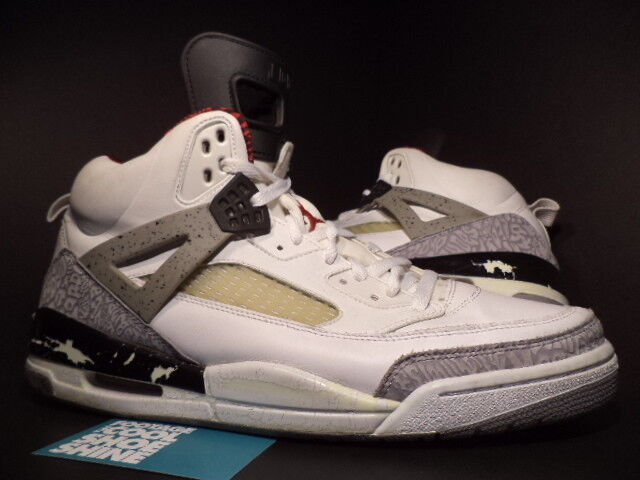 07 Nike Air Jordan SPIZIKE RETRO WHITE CEMENT COOL GREY BLACK RED 315371-101 13