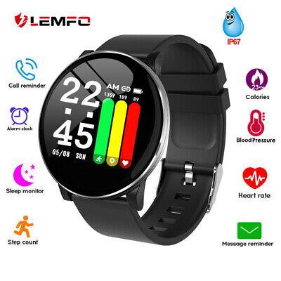 LEMFO Smart Watch Blood Pressure Heart Rate Blood Oxygen Sports Fitness Bracelet