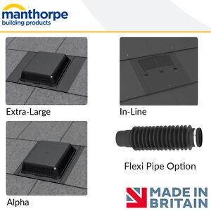 Manthorpe Slate Roof Vents Alpha Extra Large In Line