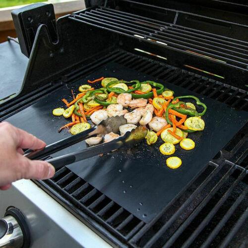 50*40cm BBQ Grill Mat Bake Non Stick Grilling Mats Barbecue Pad Teflon Fiber