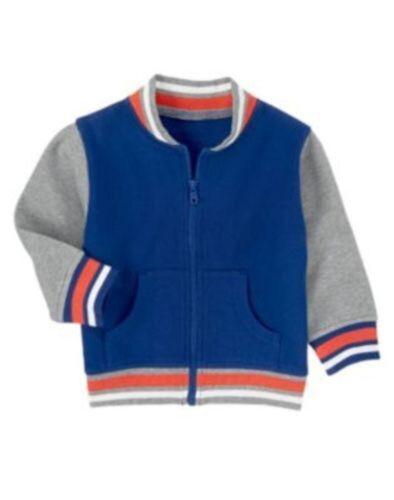 NWT Gymboree Boys Super Dude Varsity Jacket Size 6-12 /& 12-24 M