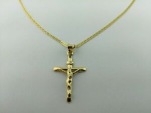 14k solid gold italian cross pendant with italian gucci necklace image is loading 14k solid gold italian cross pendant with italian mozeypictures Image collections