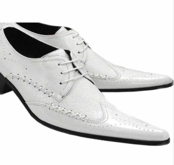 Retro Men's Cuban Heel Pointed toe Casual Business Formal Dress shoes Size JM59