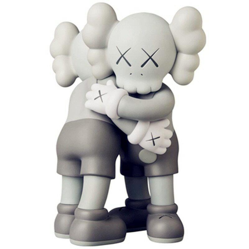 2 PCS KAWS OriginalFake Medicom ToyTogether Hug Street Art Action Figures 34CM