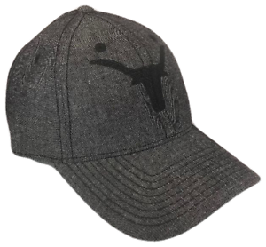 Longhorns Adjustable Baseball Cap Caps Hat Hats UT Texas Black Denim Blackout