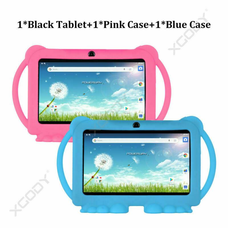 Tablet+PinkCase+BlueCase