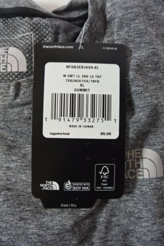 The North Face Summit Engineered Long Sleeve Top Heather Gray Womens Size XL