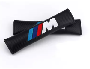Set-aus-2-Gurtpolster-BMW-M-Sport-Carbon-Stickerei-Gurtschoner-Custom
