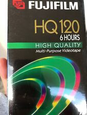 New Pack Fuji HQ 120 VHS Blank Video Cassette Tapes 6 Hours 5 Pack